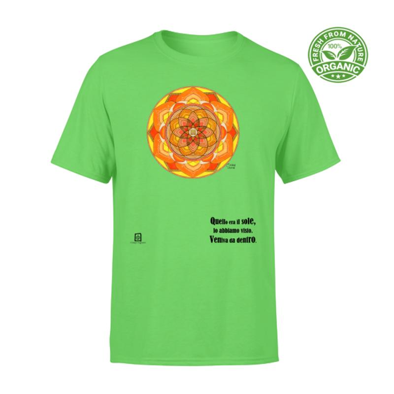 tshirt organic unisex verde kiwi