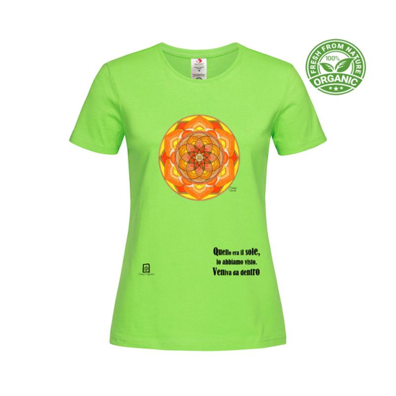 tshirt organic donna verde kiwi