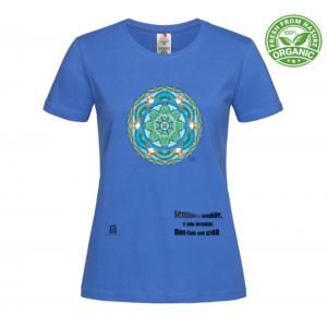 tshirt organic donna blue royal