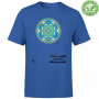 tshirt organic unisex blue royal