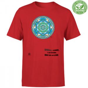 tshirt organic unisex rosso
