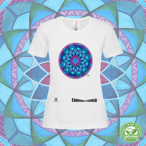 CONTENERE L'ESSENZA tshirt-mandala organic donna