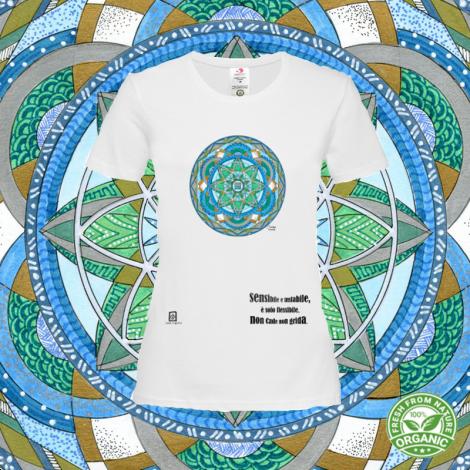 LAGO SU VENTO tshirt-mandaching organic donna