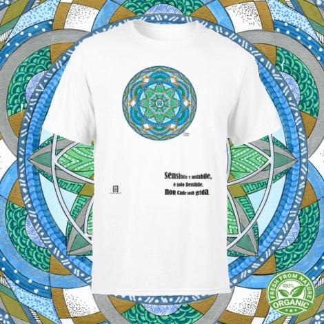 LAGO SU VENTO tshirt-mandaching organic unisex
