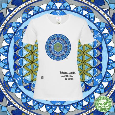 ACQUA SU LAGO tshirt-mandaching organic donna