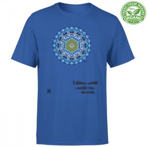 tshirt organic unisex blue royal