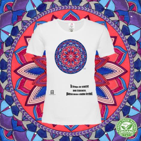 ACQUA SU FUOCO tshirt-mandaching organic donna