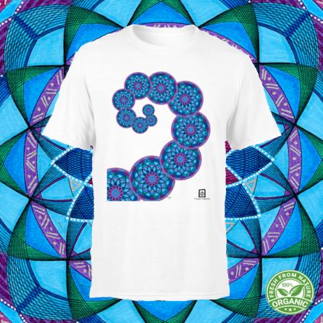 SPIRALE AUREA tshirt-mandala organic unisex