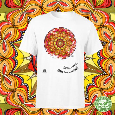 ARIETE tshirt-mandala organic unisex