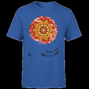 tshirt organic blue royal