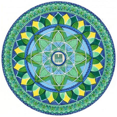 Stampa d'arte mandala Mandaching 32 - Tuono su Vento
