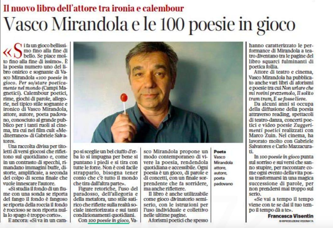 Articolo sul Corriere Veneto